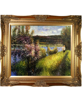 "By Overstockart The Seine At Chatou with Victorian Frame, 28"" x 32"" La Pastiche"