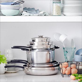 Уровни 11-Шт. Набор керамической посуды с антипригарным покрытием из нержавеющей стали, созданный для Macy's Greenpan