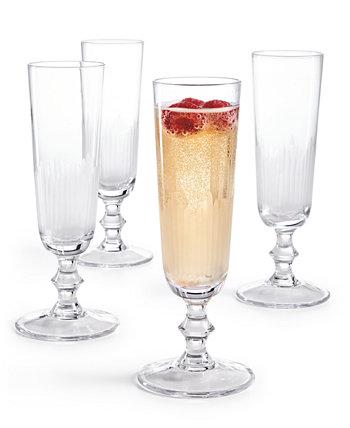Фужеры для шампанского Architect, набор из 4, созданный для Macy's Hotel Collection