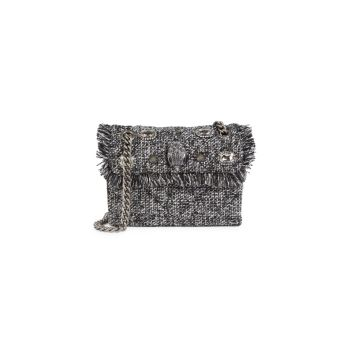 Твидовая сумка через плечо Mini Kensington Kurt Geiger London