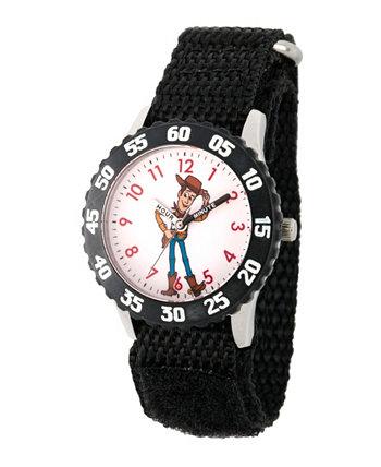 Часы для учителя времени из нержавеющей стали с черным ремешком для мальчиков Disney Toy Story 4 Woody, 32 мм Ewatchfactory