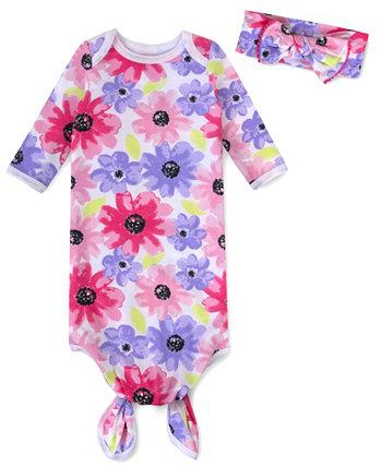 Платье-мешок для сна для маленьких девочек с повязкой на голову Baby Essentials