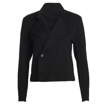 Куртка с зазубренными лацканами Issey Miyake