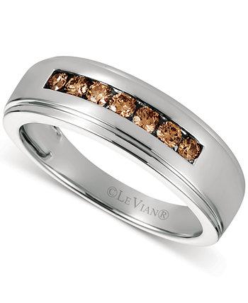 Мужское кольцо Chocolatier® Diaomond с шоколадным бриллиантом (3/8 карата) из белого золота 585 пробы Le Vian
