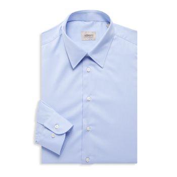 Сплошная рубашка Armani Collezioni