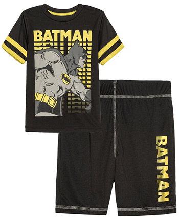 Комплект футболки и шорт Little Boys Batman Knight Active, 2 предмета Hybrid