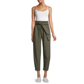 Хлопковые брюки с бумажным мешком Love Your Work BB Dakota