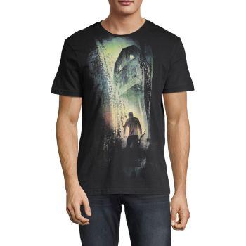 Хлопковая футболка с рисунком Amityville Horror Eleven Paris