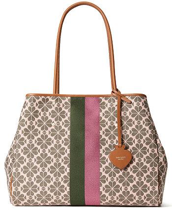 Большая сумка-тоут из жаккарда с полосками Spade Flower Kate Spade New York