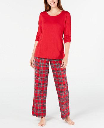 Подходящий женский комплект семейной пижамы в клетку Mix It Brinkley Plaid, созданный для Macy's Family Pajamas