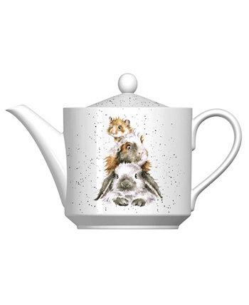 Хрюша в среднем чайнике Wrendale Designs