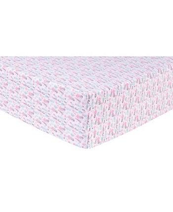 Pastelly Цветочная Фланель для кроватки Trend Lab