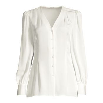 Шелковая блуза Percy с завязками Elie Tahari