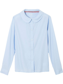 Long Sleeve Woven Shirt with Peter Pan Collar (Toddler) French Toast