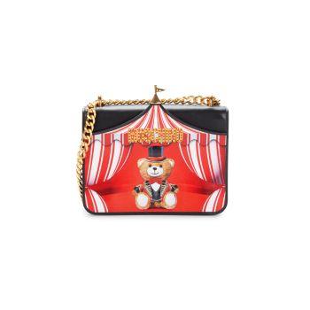 Кожаная сумка через плечо Mini Circus Bear Moschino