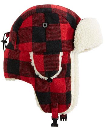 Мужская шляпа-траппер в клетку Buffalo с флисовой подкладкой Dorfman Pacific