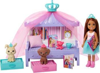 Барби <sup> ® </sup> Princess Adventure <sup> ™ </sup> Chelsea <sup> ™ </sup> Princess Storytime Playset с куклой Челси <sup> ™ </sup>, Mattel