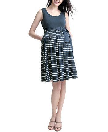 Платье для беременных в полоску Samantha Kimi + kai