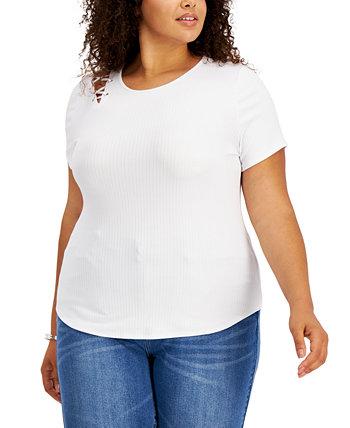 Модная футболка больших размеров со шнуровкой на плечах Derek Heart