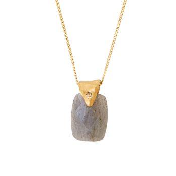 Покрытие из 18-каратного золота, мексиканская бирюза & amp; Ожерелье с бриллиантовой подвеской Chan Luu