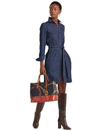 Джинсовое платье-рубашка с поясом Ralph Lauren