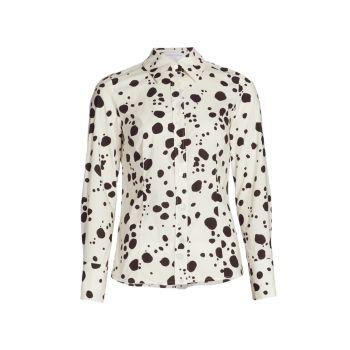 Блузка с рисунком в горошек Carolina Herrera