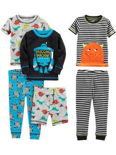 Хлопковый пижамный комплект из 6 предметов (для маленьких / больших детей) Simple Joys by Carter's