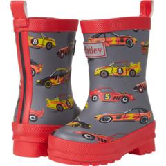 Classic Race Cars Matte Rain Boots (Toddler/Little Kid) Hatley Kids