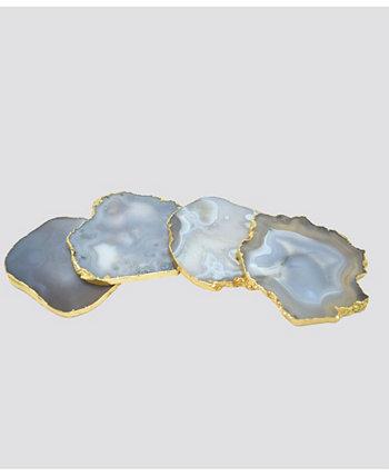 - Подставки для подстаканников из агата, набор из 4 шт. Nature's Decorations