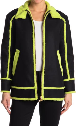 Fantasy Piped Stand Collar Jacket Moschino