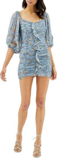 Мини-платье со сборками и цветочным принтом Dahlia MINKPINK