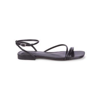 Mariella Leather Flat Sandals Marc Fisher LTD