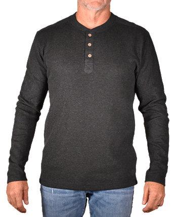 Мужская футболка Henley с рисунком в рубчик Vintage 1946