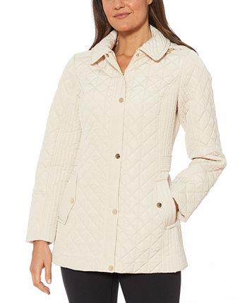 Водостойкая стеганая куртка с капюшоном Jones New York