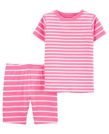 Полосатый пижамный комплект для маленьких девочек, 2 шт. Carter's