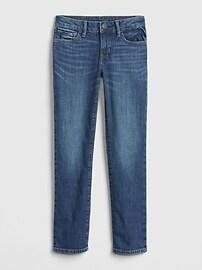 Детские прямые джинсы с эластичной резинкой Gap