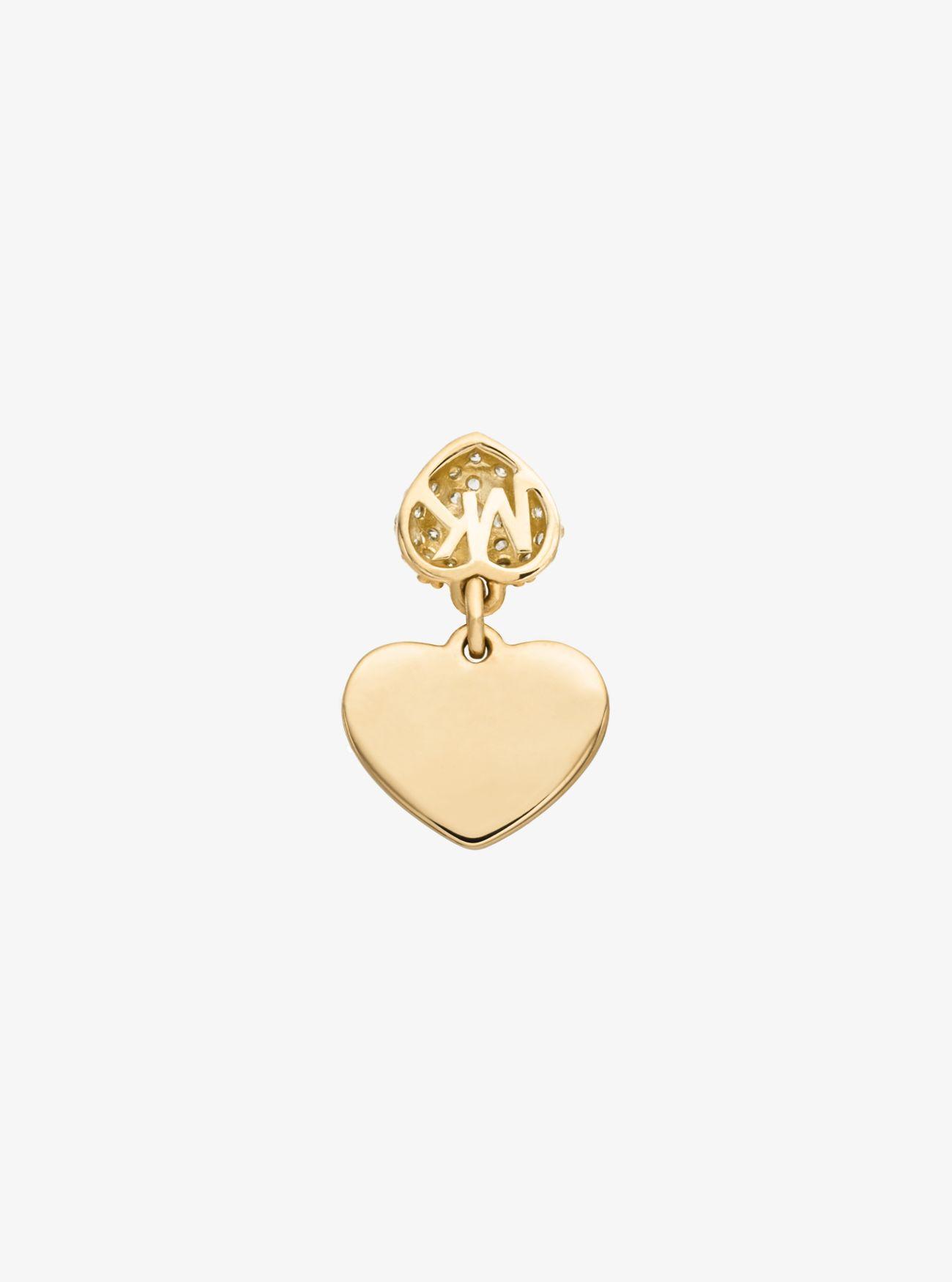 Павильон из стерлингового серебра с покрытием из драгоценных металлов? Сердце Ожерелье Michael Kors