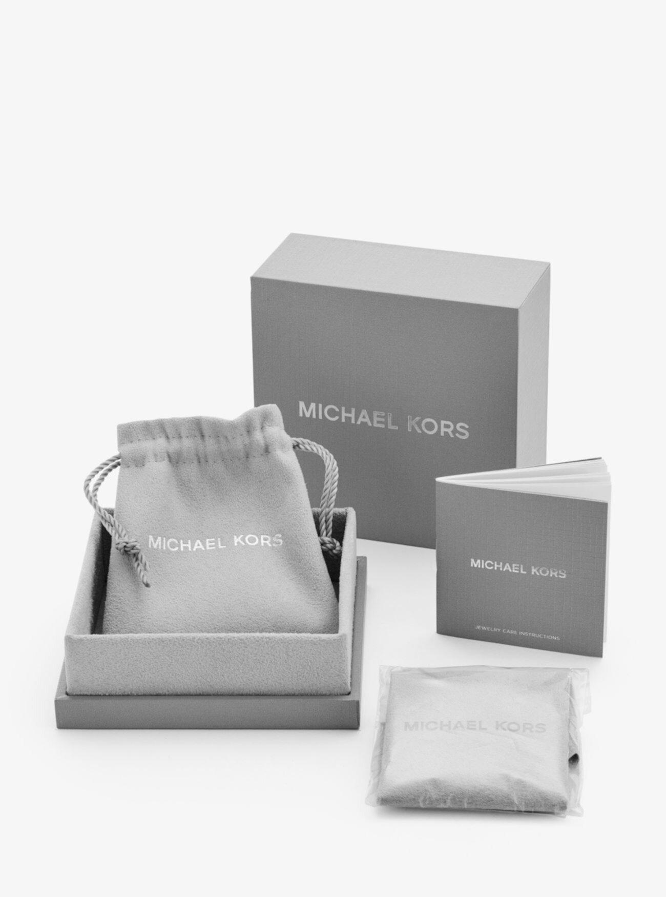 Павильон из стерлингового серебра с покрытием из драгоценных металлов? Браслет Сердце Michael Kors