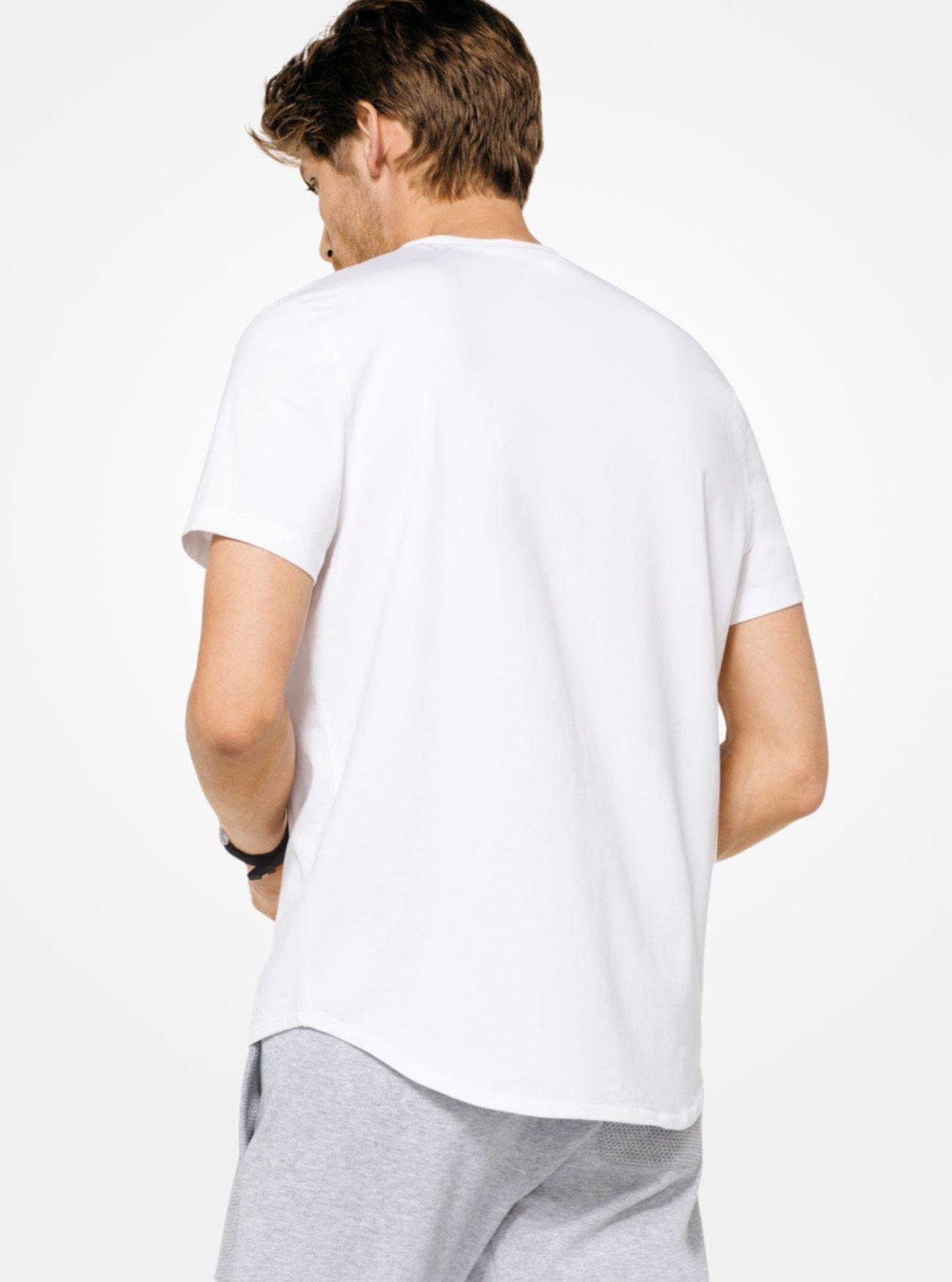 Хлопковая футболка из эластичного хлопка Michael Kors