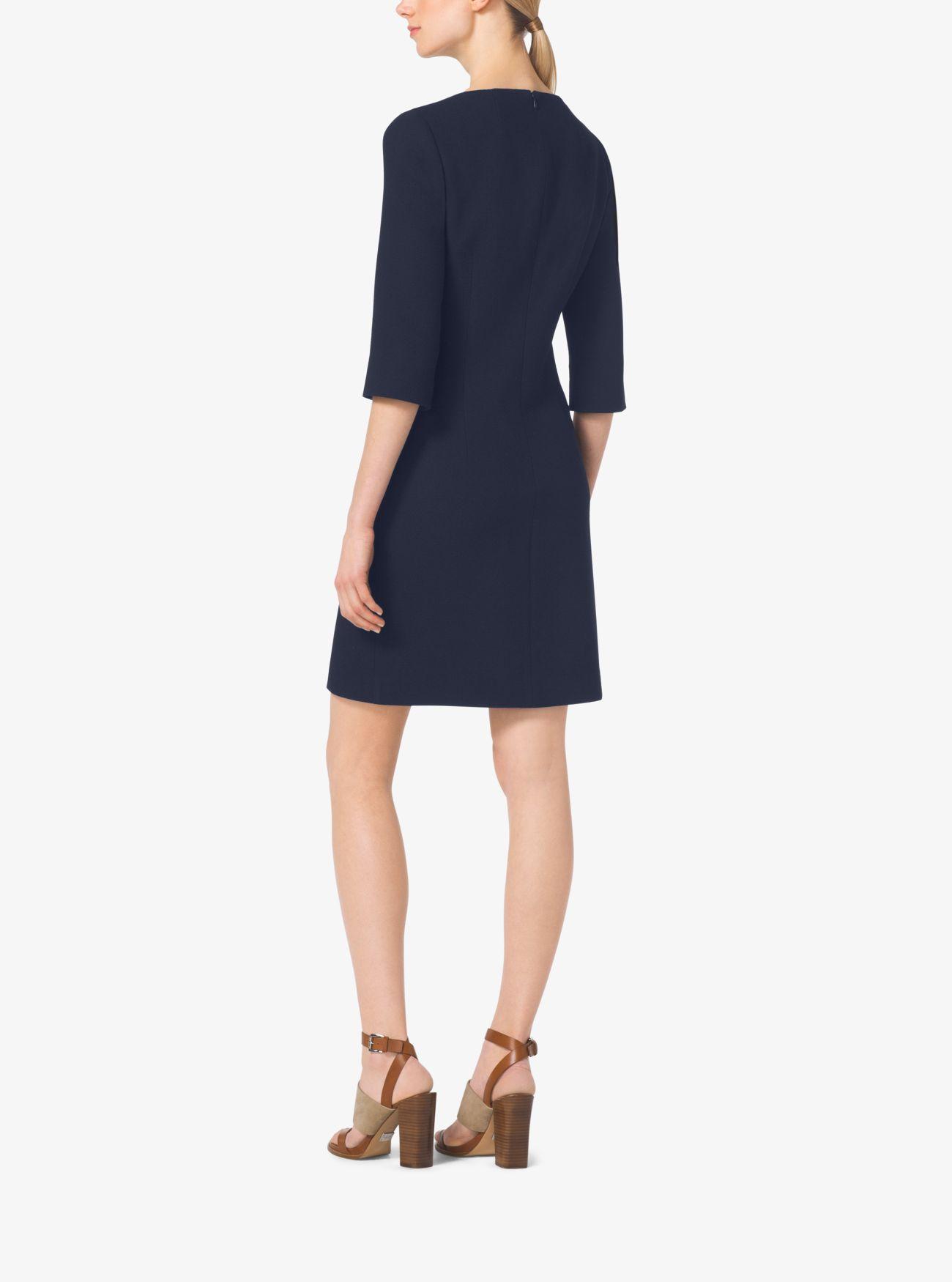 Эластичное платье-шифт из букле-крепа Michael Kors