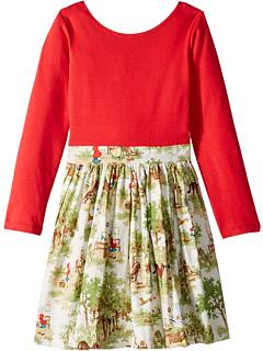 Маленькое платье Эбби (для малышей / маленьких детей / больших детей) Fiveloaves twofish