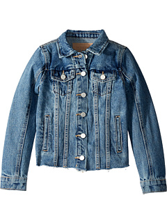 Джинсовая куртка средней длины с необработанными краями в пробке (Big Kids) Blank NYC Kids