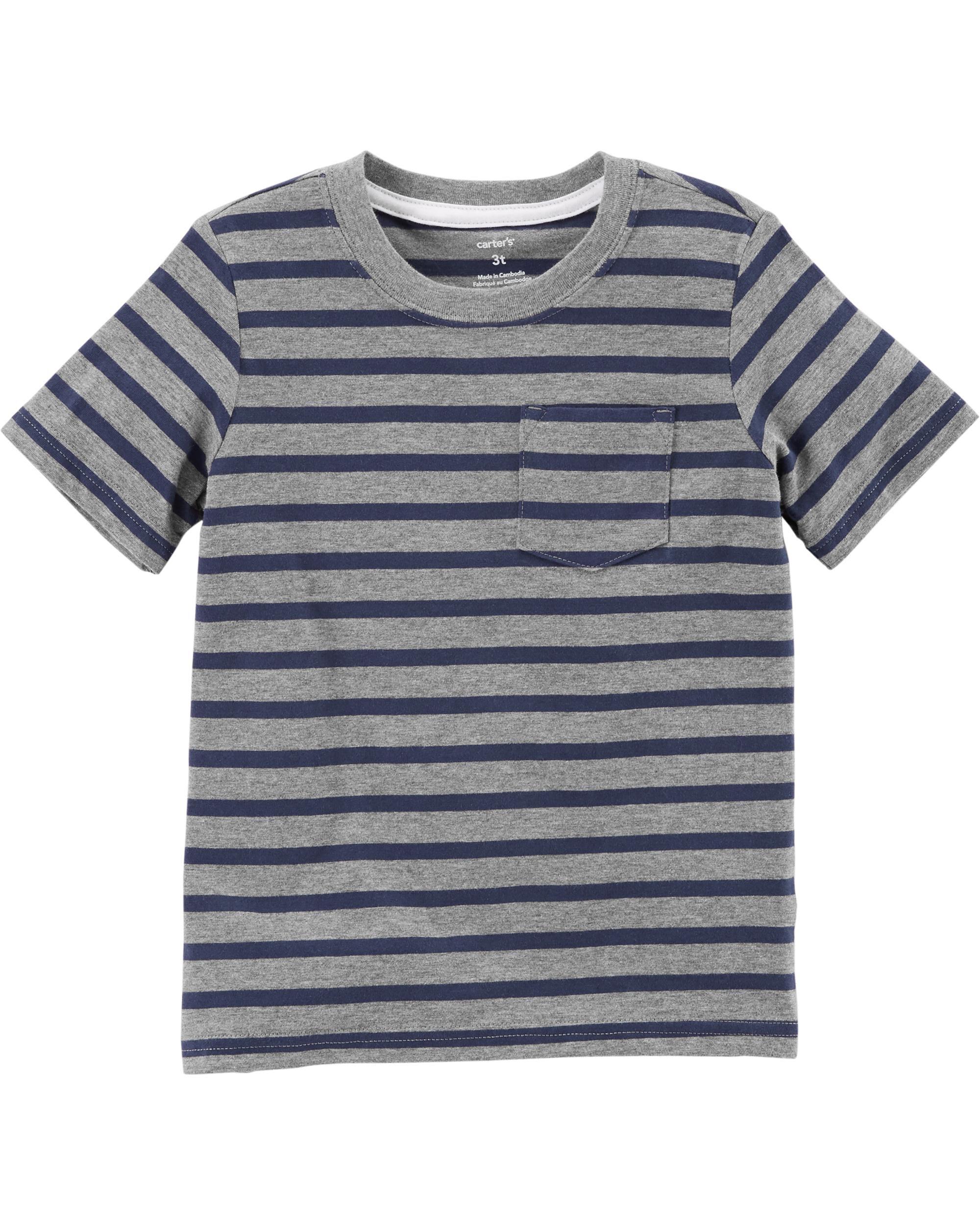 Полосатая карманная футболка Carter Carters