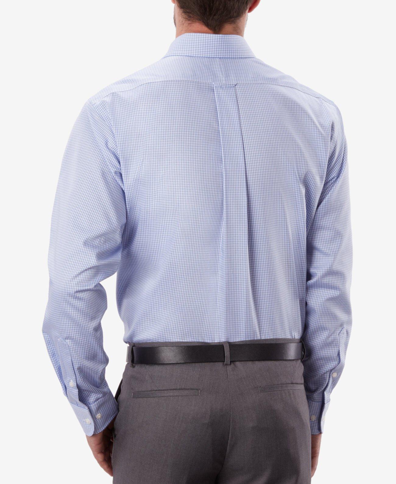Классический мужской эластичный воротник без железной синей клетчатой рубашки в клетку Eagle