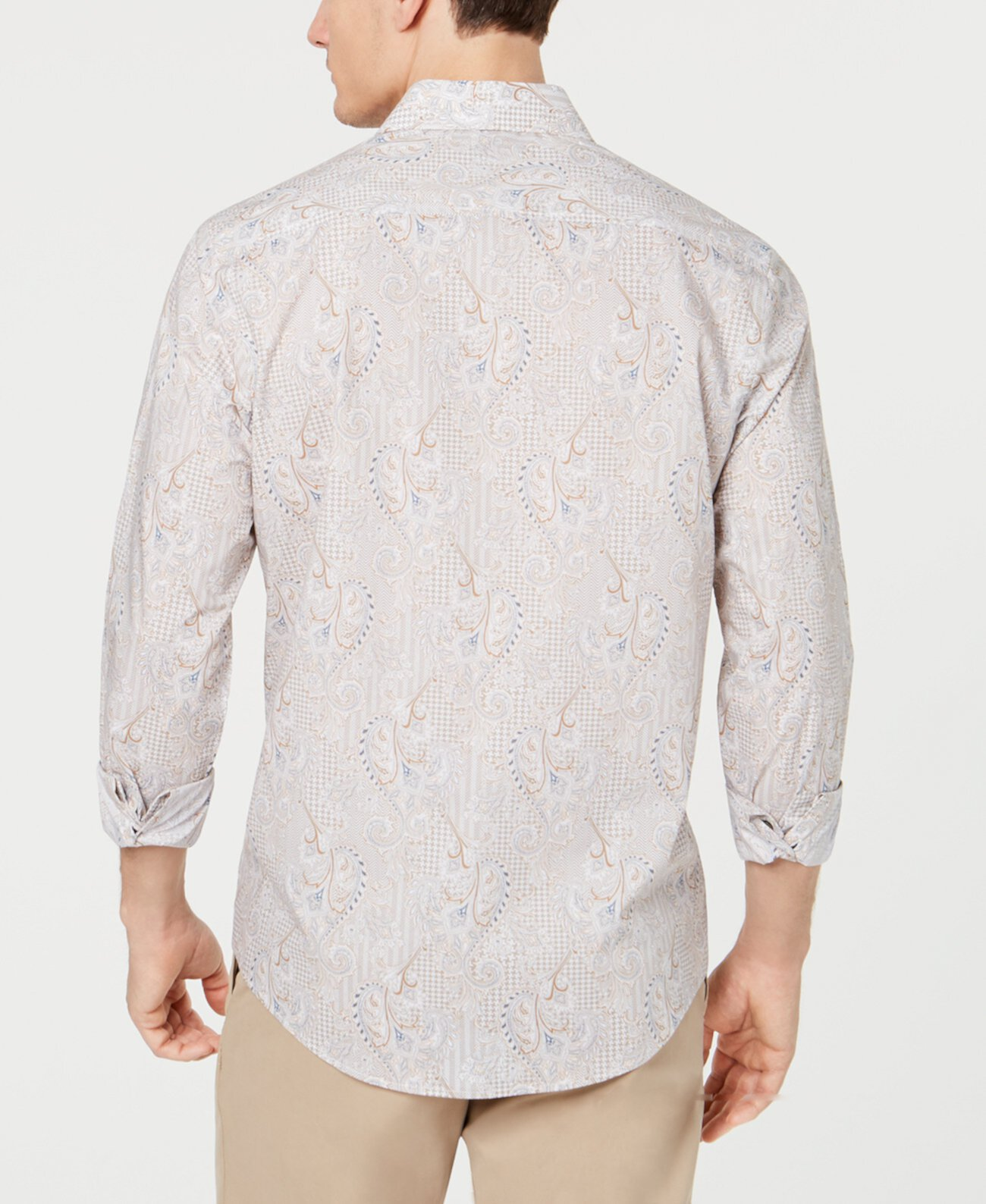 Мужская эластичная рубашка с принтом пейсли, созданная для Macy's Tasso Elba