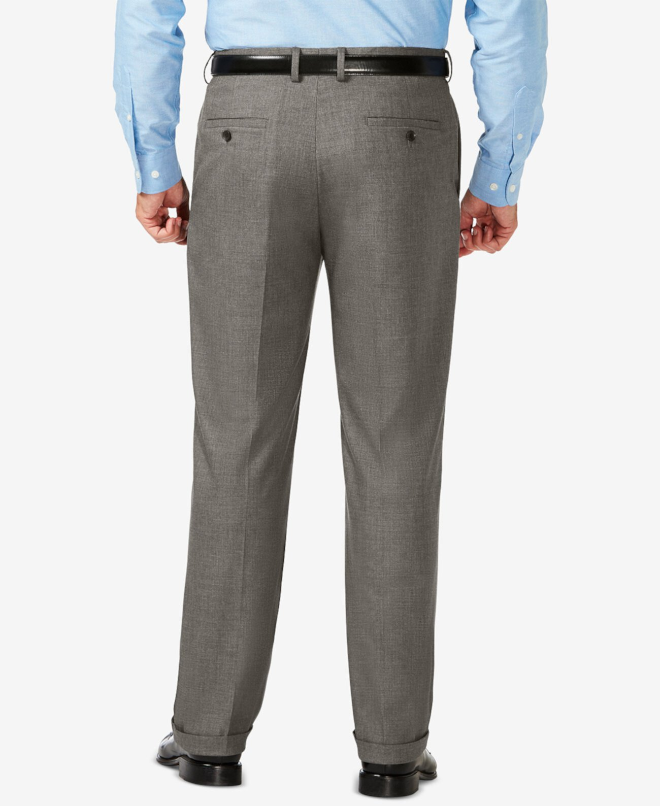 Классические эластичные классические брюки в яркую клетку J.M. Big & Tall HAGGAR