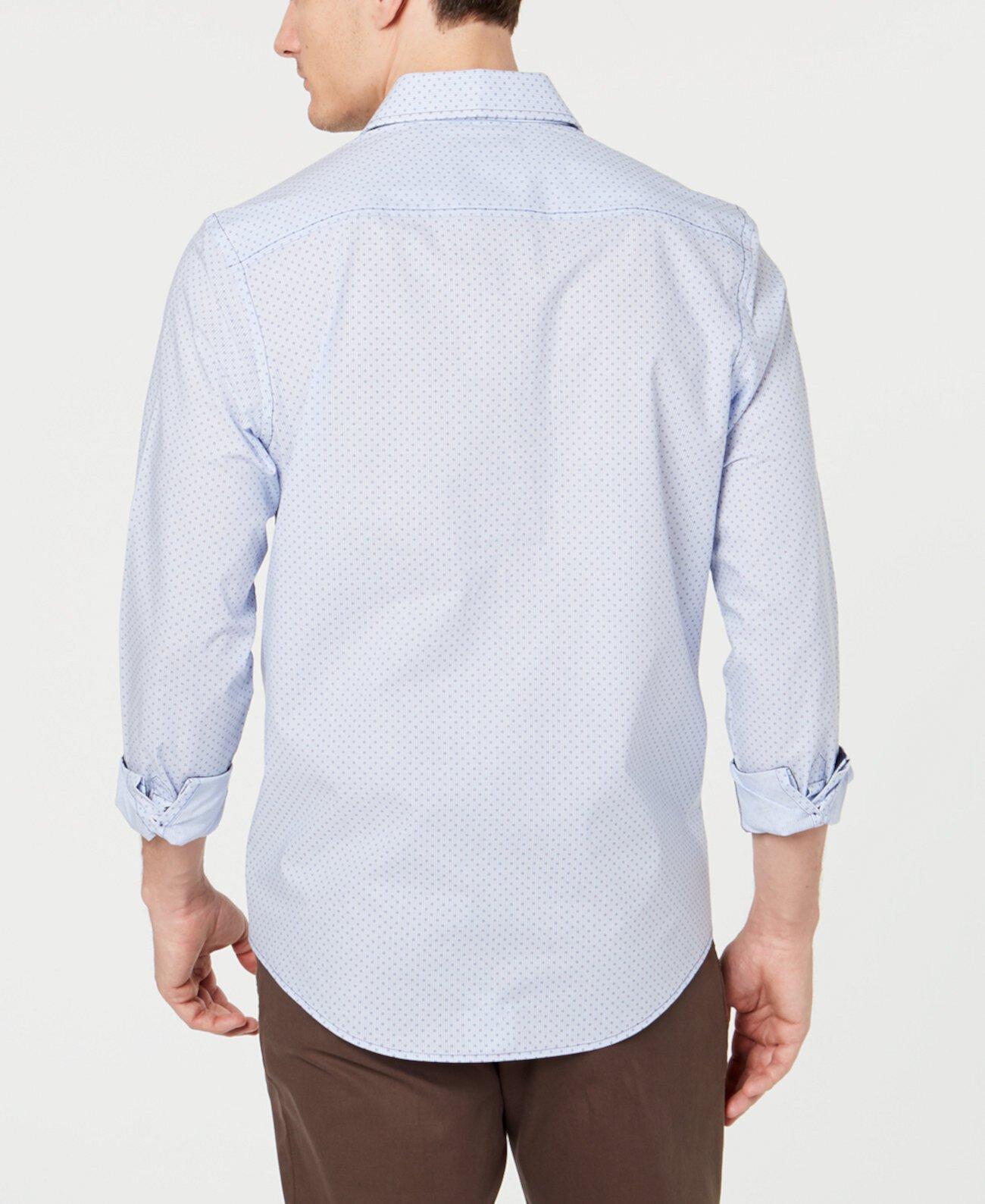 Мужская рубашка в полоску из эластичной ткани, созданная для Macy's Tasso Elba