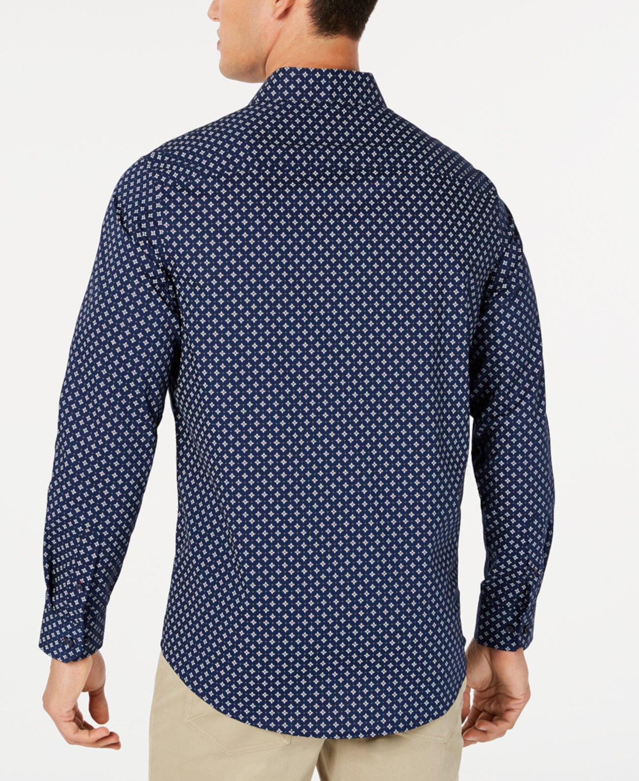 Мужская эластичная рубашка с медальоном и принтом для Macy's Tasso Elba