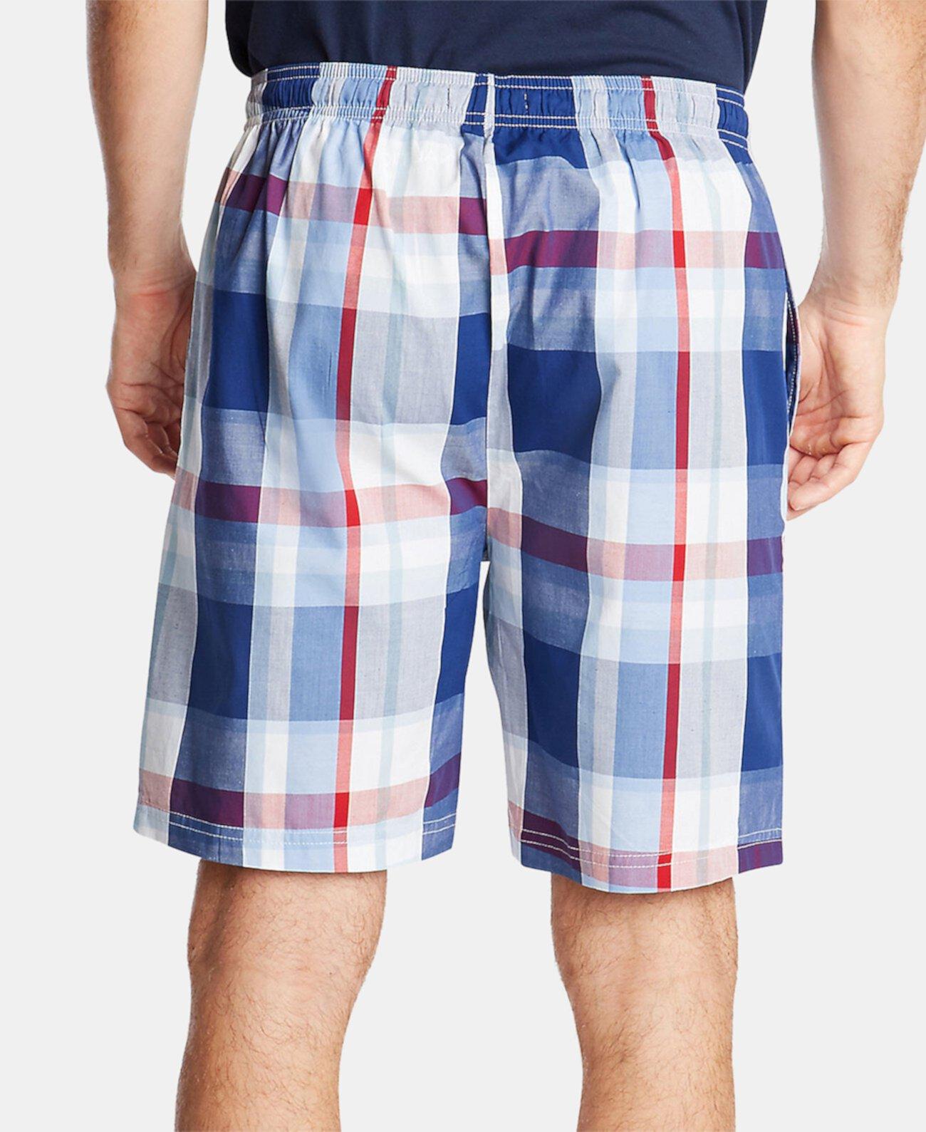 Мужские пижамные шорты из хлопка в клетку Nautica