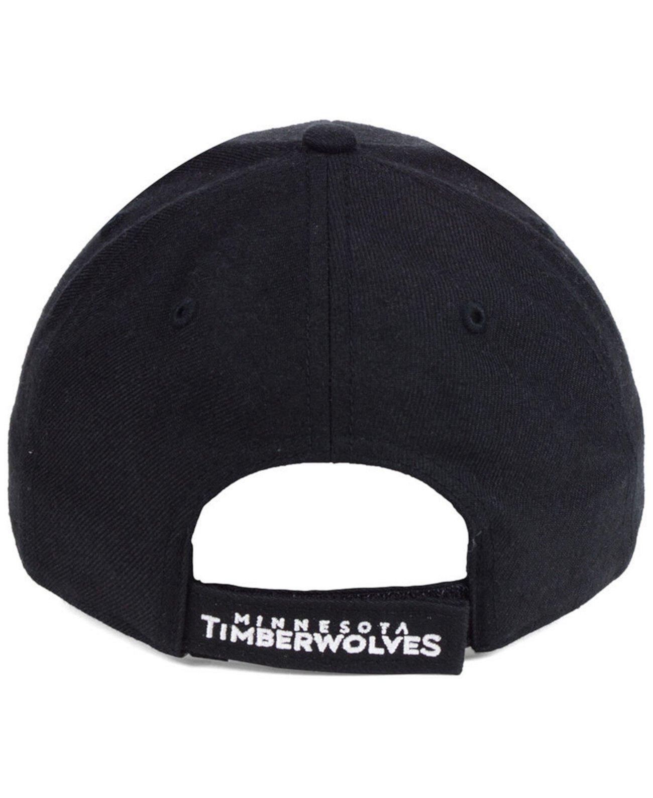Миннесота Тимбервулвз Черно-белая кепка MVP '47 Brand